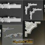ابزارهای کنج و گوشه گچ بری-سه بعدی تزئینات کچ بری