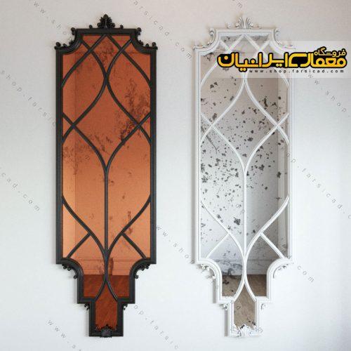 آبجکت آینه کلاسیک - آبجکت قاب دیواری ، آبجکت های کلاسیک - تزئینات معماری کلاسیک