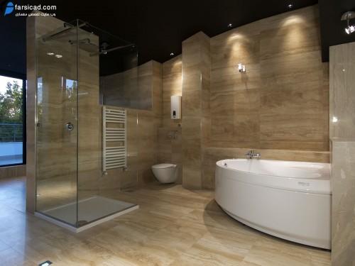 طرح کاشی و سرامیک حمام و سرویس بهداشتی