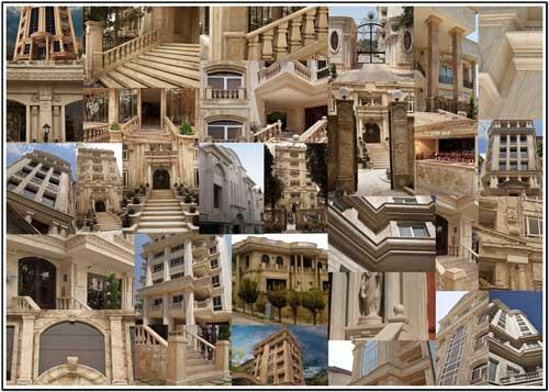 نمای ساختمان, نما رومی, نمای سنگی, نمای ساختمان های تهران, نما, طرح نما