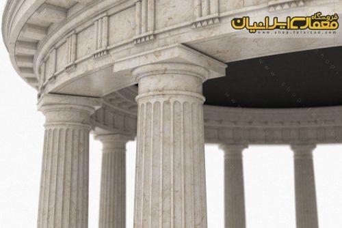 نمای رومی - نمای کلاسیک - ستون نما رومی - نمای سنگی کلاسیک