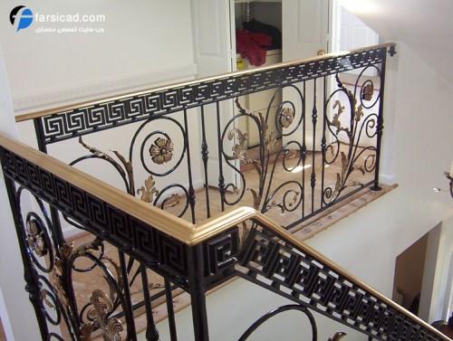 پله ، نرده پله ، پله چوبی ، پله آهنی ، پله چرخان ، پله گرد