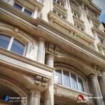 نمای ساختمان ، نمای آپارتمان ، نمای ساختمان مسکونی ، نمای ویلا - نمای سنگی - نمای آجری