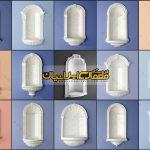 قاب پنجره کلاسیک - قاب پنجره نمای رومی ، طرح نمای رومی