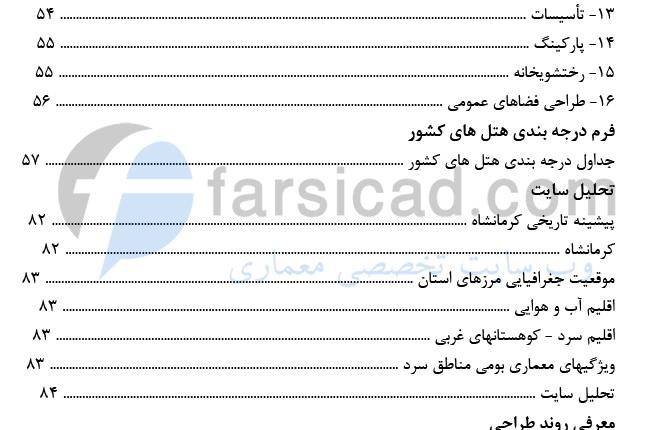فهرست رساله تالار - صفحه 3