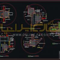 دتایل فاز 2 - دیتیل معماری - دیتیل سازه ای - نقشه جزئیات اجرایی اتوکدی dwg