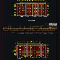 نمای اتوکد - نمای اتوکدی - نمای dwg - نمای cad - نمای اجرایی ساختمان - نقشه اتوکدی