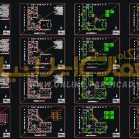 نقشه تاسیسات مکانیکی - نقشه تاسیسات مکانیکی dwg - پلان تاسیسات مکانیکی اتوکدی
