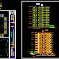 مجتمع مسکونی dwg - نقشه مجتمع مسکونی - پلان مجتمع مسکونی - طرح مجتمع مسکونی - طرح 5