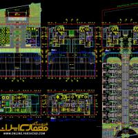 نقشه معماری dwg - پلان اتوکدی - نقشه مجتمع مسکونی
