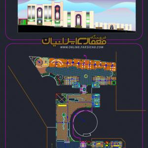 پلان خانه موسیقی - پلان مرکز موسیقی - نقشه خانه موسیقی - نقشه خانه هنر - نقشه مرکز موسیقی dwg - cad