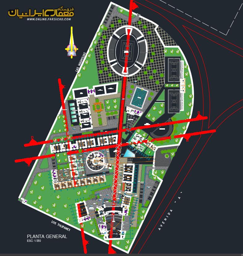 پلان معماری پارک علم و فناوری
