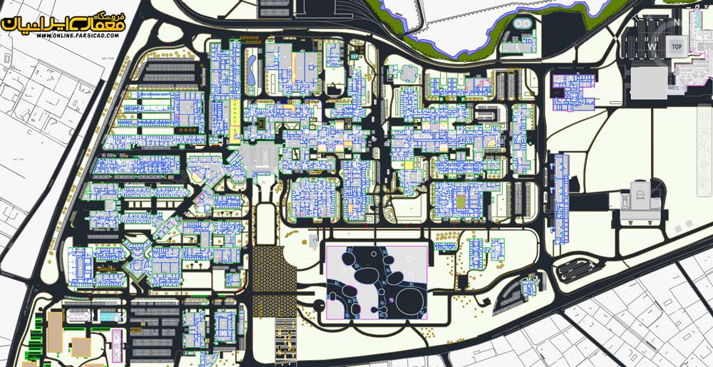 نقشه پارک علم و فناوری