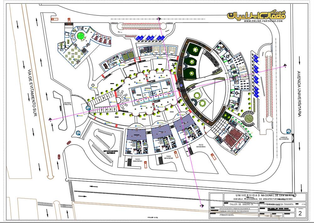 نقشه پارک علم و فناوری پردیس