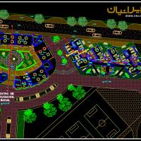 سایت پلان مجتمع مسکونی - طرح سایت مجتمع مسکونی - مجتمع مسکونی dwg