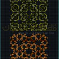 تزئینات معماری اسلامی - تزئینات معماری ایرانی - تزیینات معماری dwg - نقشه اتوکدی